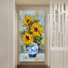 Tablou Vaza cu Flori Galbene OPJ8
