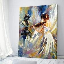 Tablou Canvas Doamna cu Vioara
