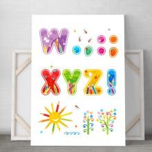 Tablou Canvas Alfabet Copii DCS3
