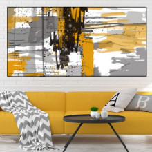 Tablou Canvas Abstract Yellow Spots ATF42