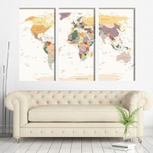 Multicanvas Harta Lumii NVV35