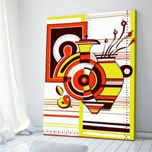 Tablou Abstract Vaza cu Cercuri