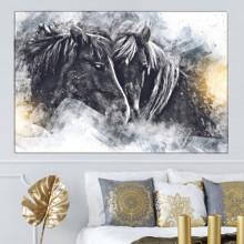 Tablou Canvas 2 Cai Negri Artistici HS172