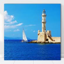 Tablou Canvas Farul din Chania, Grecia GRTV23