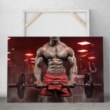 Tablou Canvas Halterofil in Sala de Fitness PFGT68