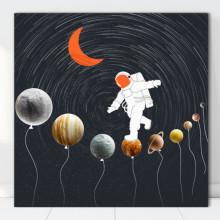 Tablou Canvas Plimbarea Astronautului pe Planete OUSA5