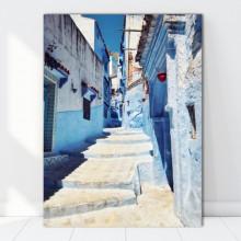 Tablou Canvas Scari Printre Cladiri in Grecia GR55