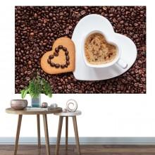 Tablou Ceasca de Cafea in Forma de Inima ACOF28