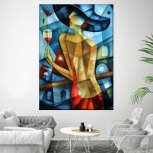 Tablou Doamna Eleganta, Abstract, Cubism TRC39