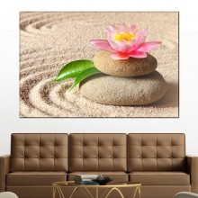 Tablou Floare de Lotus pe Pietre Spa MSP41