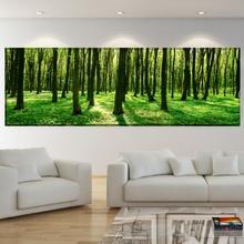 Tablou Padure Verde Panoramica