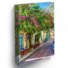 Tablou Straduta cu Flori in Grecia grc11