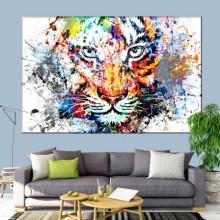 Tablou Tigru Stilizat Multicolor ATGR96