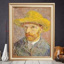 Tablou Van Gogh, Autoportret cu Palarie, Print Canvas + Rama VVG16