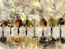 Tablou canvas fractal art 09