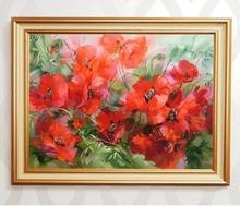 Tablou canvas cu rama aurie b006 11