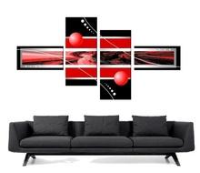 Multicanvas rosu cu negru digital art mdigi1