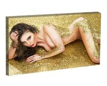 Tablou Nud Femeie in Glitter Auriu st1343