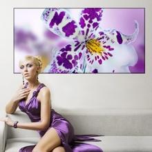 Tablou Orhidee Alb-Violet