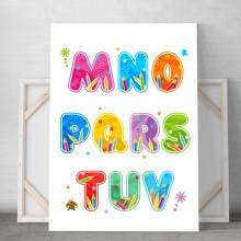Tablou Canvas Alfabet Copii DCS2