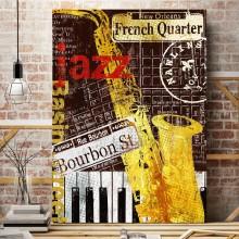 Tablou Retro Jazz BRF44
