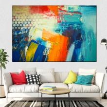 Tablou Canvas Culori Abstracte CTB6