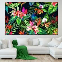 Tablou Pasare Printre Flori Exotice FRZ2
