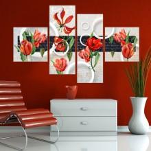 Multicanvas Floral Modern FFAR12