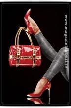 Poster inramat red-orange bag
