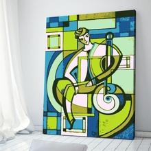 Tablou Abstract Omul cu Mandolina