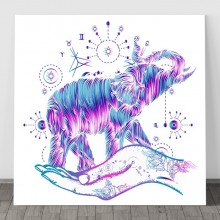 Tablou Canvas Elefantul Norocos FSHB26