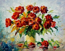 Tablou canvas Leonid Afremov - Red on white