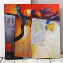 Tablou Canvas Muzical Abstract TRD8