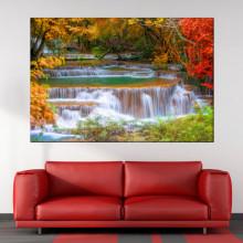 Tablou Canvas Peisaj de Vis cu Cascada WTF89