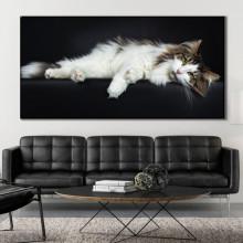 Tablou Canvas Pisica Eleganta & Relaxare CAT48