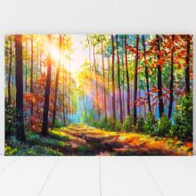 Tablou Canvas Raze de Soare Printre Copaci BNS53