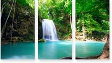Tablou canvas set cascada cu lac