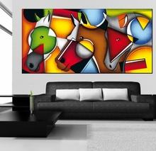 Tablou Cubist Cai - Energie si Culoare
