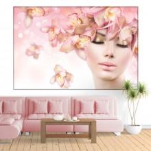 Tablou Femeie Cu Orhidee In Nuante Pastel FORST22