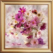 Tablou Floral cu Rama Aurie B006 bqf30