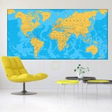Tablou Harta Lumii Cu Tari Si Capitale NVV4