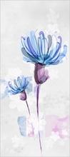 Tablou modern floral blue 03