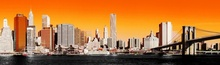 Tablou panoramic New York Manhattan orange