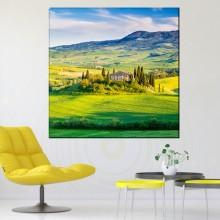 Tablou Peisaj Frumos din Toscana la Apus, Italia RIT93