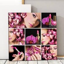 Tablou Colaj Make Up cu Orhidee