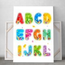 Tablou Canvas Alfabet Copii DCS1
