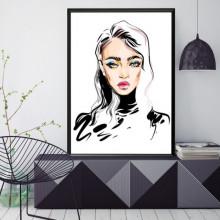 Poster + Rama Ilustratie MakeUp Stilizat ILF7