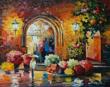 Reproducere Leonid Afremov - Galerie in orasul vechi