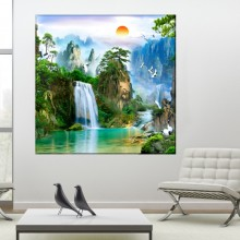 Tablou 3D Cascada in Peisaj Exotic OPO53