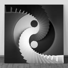 Tablou 3D Yin-Yang Alb-Negru, SFR71